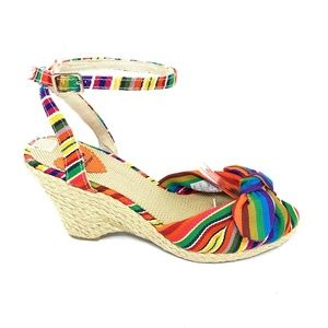 Rocket Dog Wedge Heels Size 8 Multi-Colored